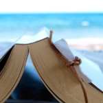 open book with the beach in background - family bucket list