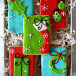 decorated christmas cookies in a box - stress surrounding traditions