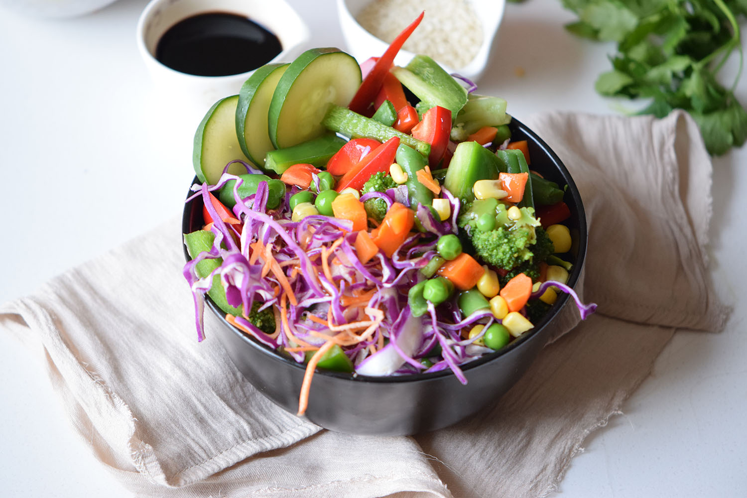 Honey Sriracha Veggie Bowl