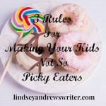 Donuts on a white plate with eating utensils - making your kids no so picky eaters