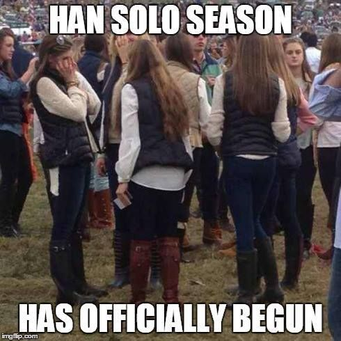 hans solo meme - hate about october
