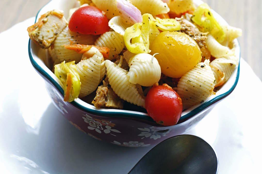 Chicken Rainbow Pasta Salad