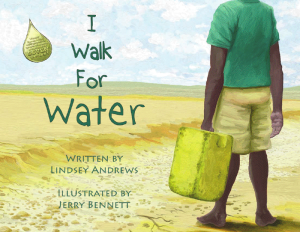 cover of I walk for water book - author visits
