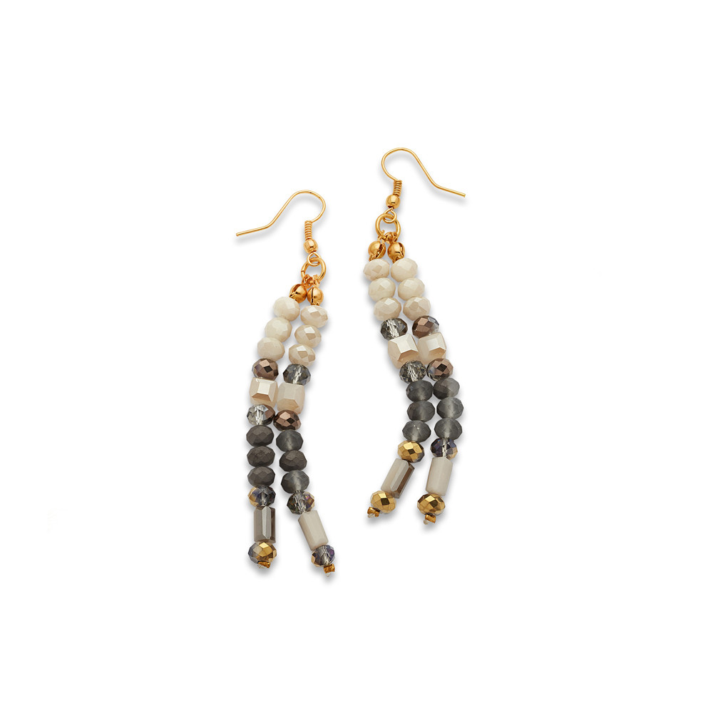 white and gray pearl earrings - 7 charming sisters