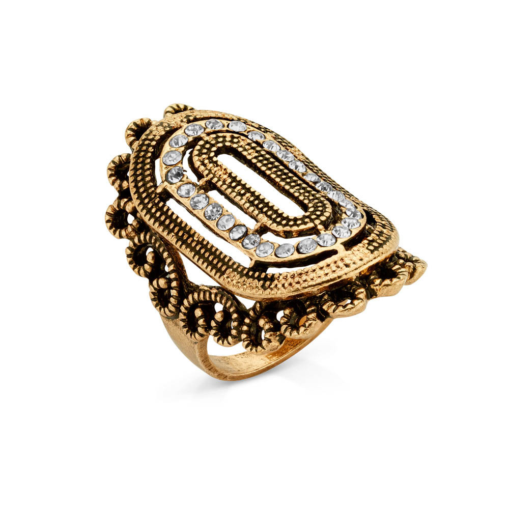 vintage brass ring - 7 charming sisters