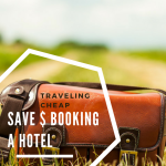 a packed bag sitting in a field of grass - hotel savings