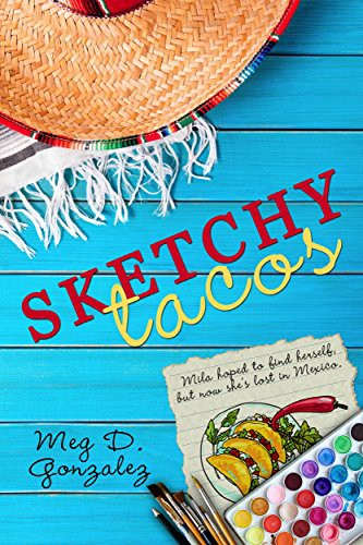novel cover with beach hat and travel book - Sketchy Tacos