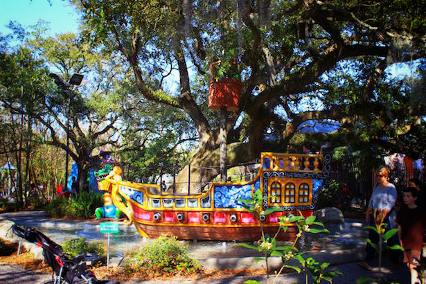Pirate Ship Toy in New Orleans - New Orleans Family Adventures
