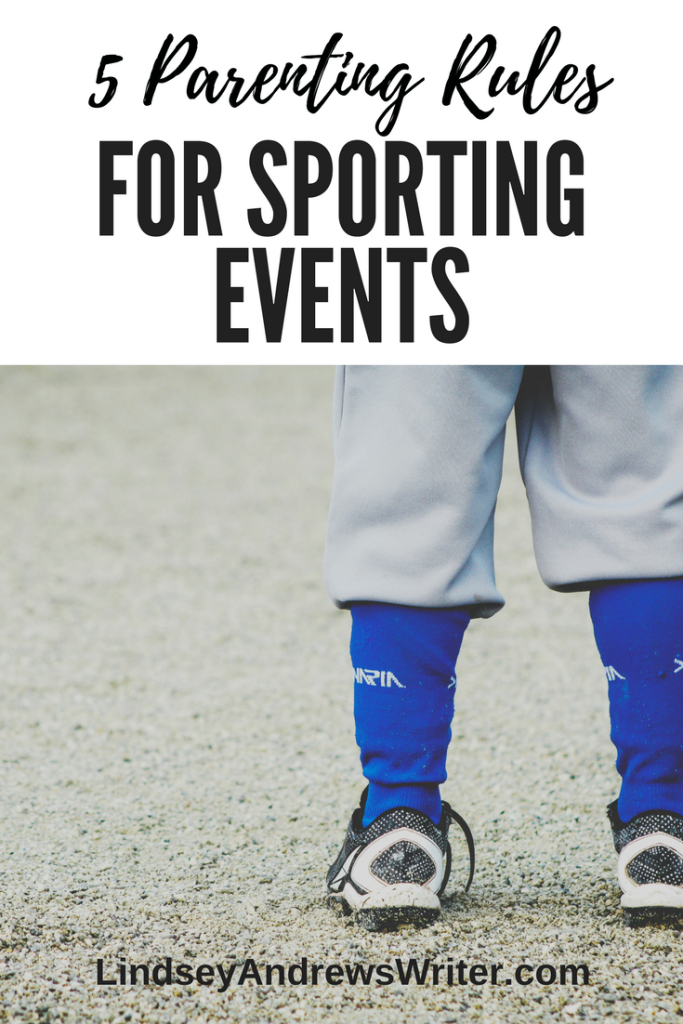 child in baseball cleats on field - parenting rules for sporting events