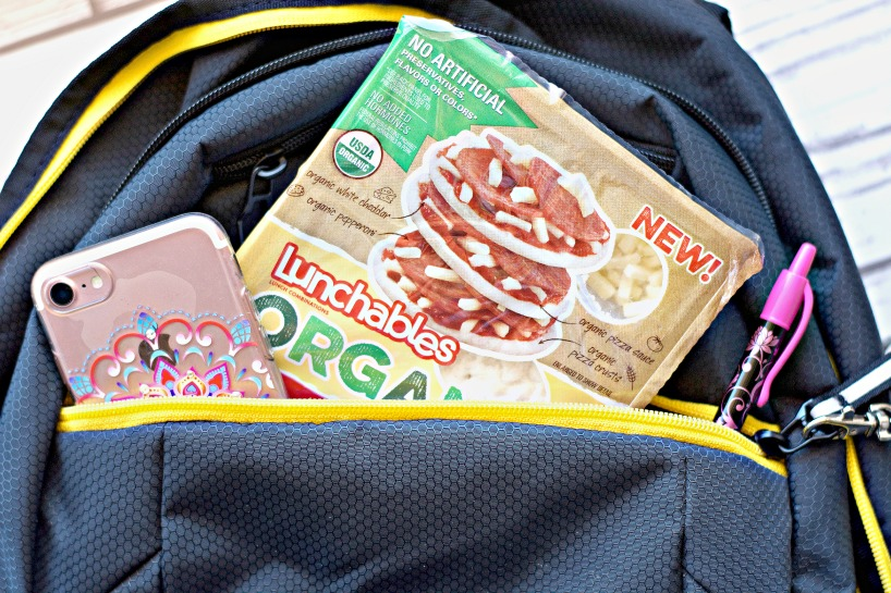 open backpack with lunchable - mastering junior high
