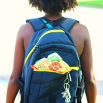 girl with backpack and lunchable out the pocket - mastering junior high