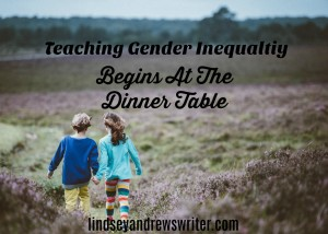 boy and girl holding hands in a field - teaching gender inequality